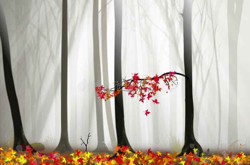 magiczni mgieł światła lasowi ilustracyjni ilustracja wektor