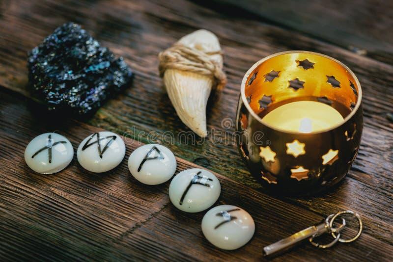 magiczni runes zdjęcia stock