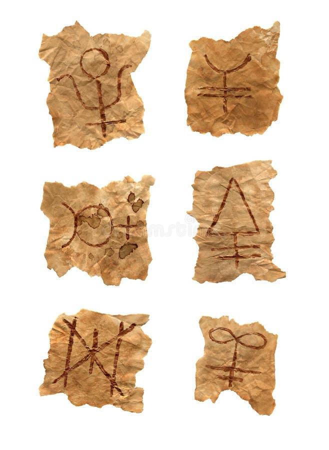 Magiczni symbole odizolowywający obraz royalty free