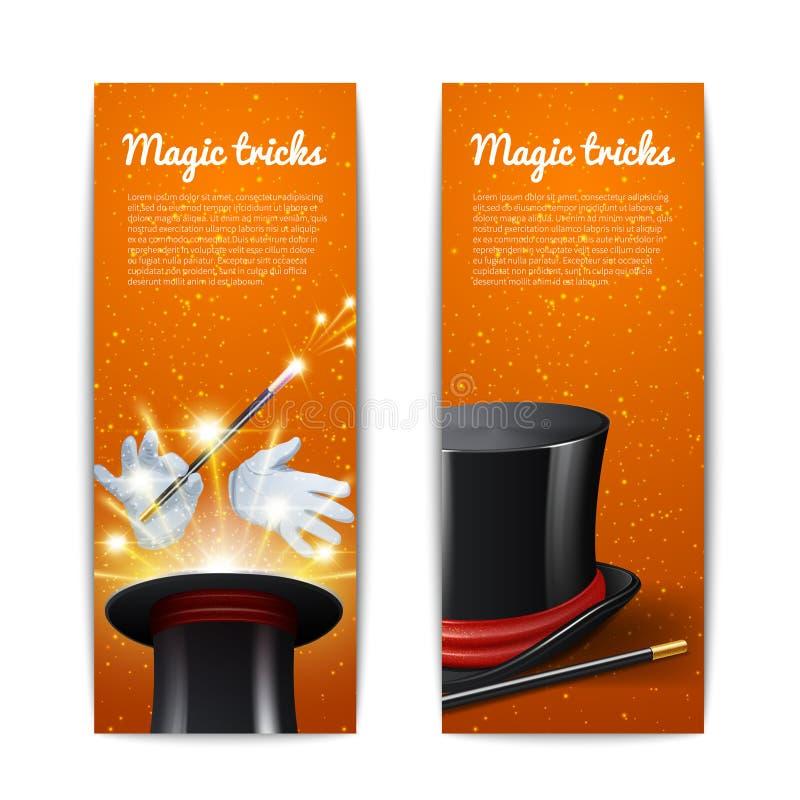 Magiczni sztandary Ustawiający royalty ilustracja