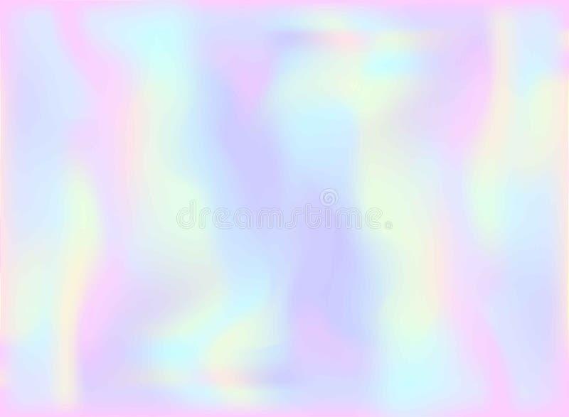 Magiczny czarodziejki i jednorożec tło z lekką pastelową tęczy siatką Multicolor tło w girly menchii, fiołka i błękita kolorach,  ilustracji