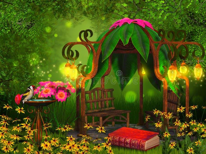 Magiczny czytania miejsce royalty ilustracja