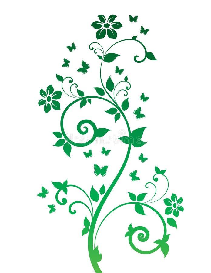 Magiczny drzewo z motylami zdjęcia royalty free