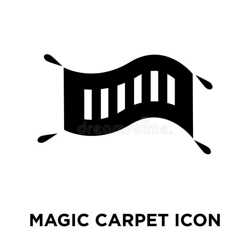 Magiczny Dywanowy ikona wektor odizolowywający na białym tle, logo conc ilustracji