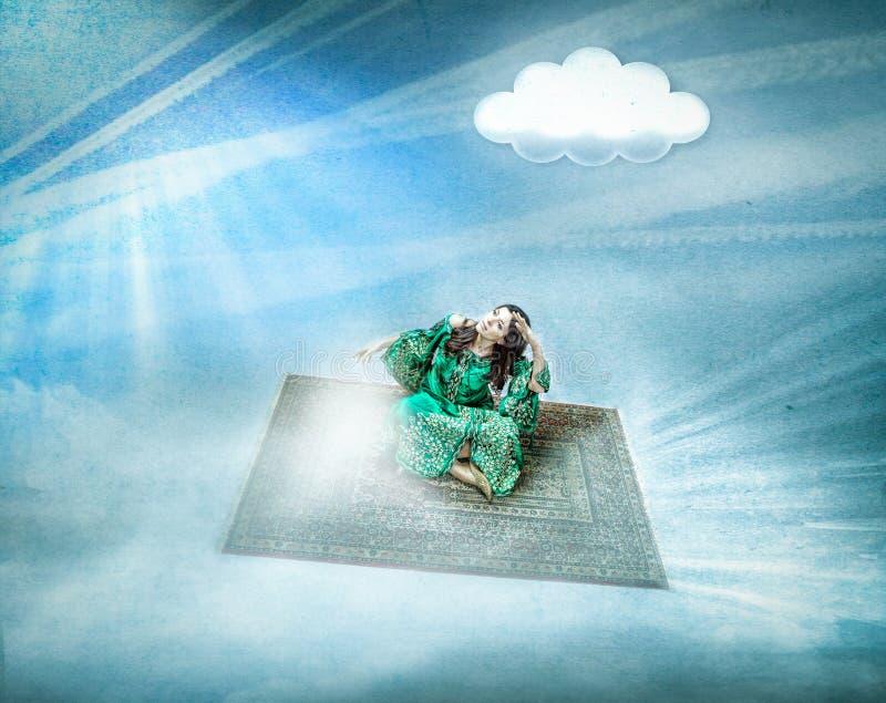 Magiczny dywanowy lot zdjęcie royalty free