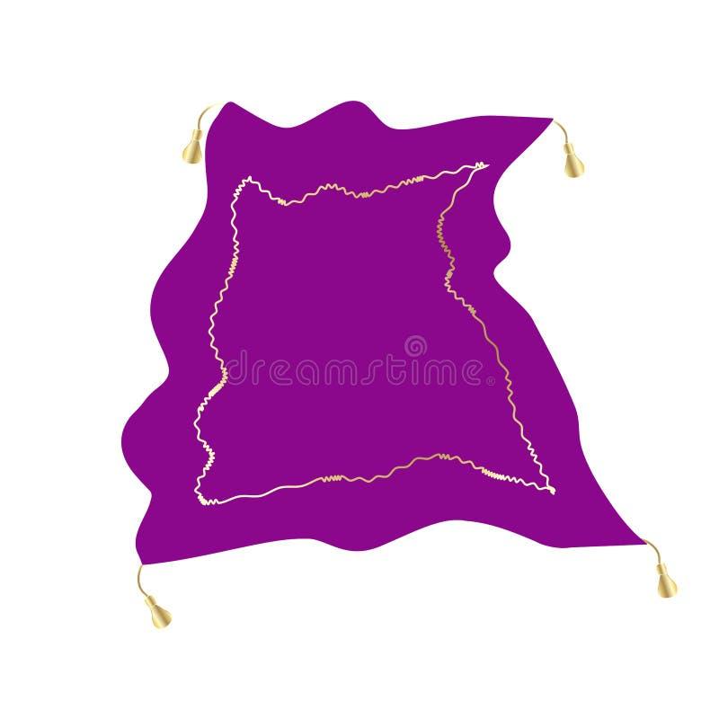 Magiczny dywanowy przedmiot odizolowywający akcyjny wektor royalty ilustracja