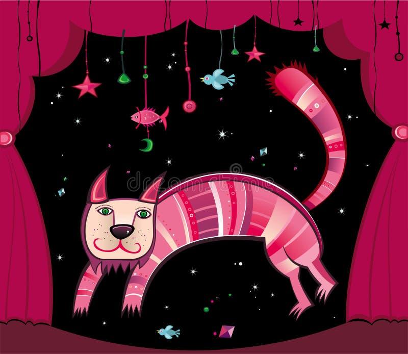 magiczny kota ilustracja wektor