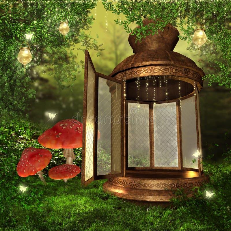 Magiczny lampion ilustracji