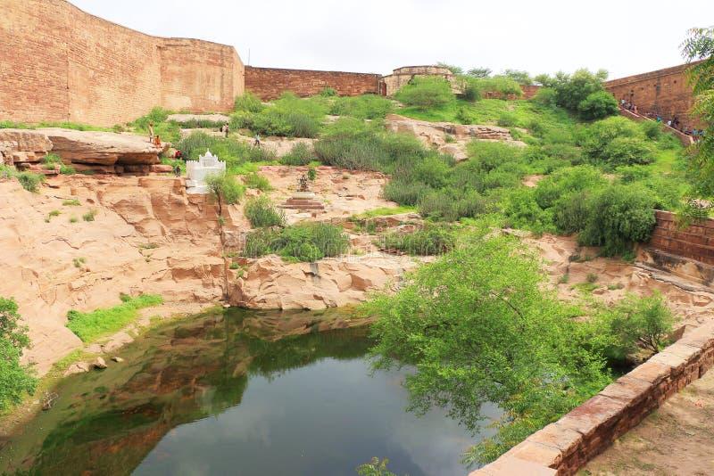 Magiczny Mehrangarh fort, Jodhpur, Rajasthan, ind zdjęcie stock