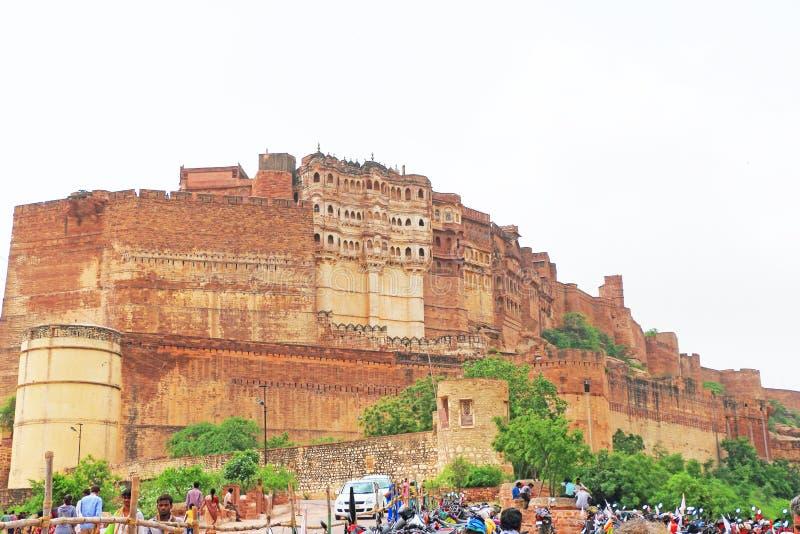 Magiczny Mehrangarh fort, Jodhpur, Rajasthan, ind zdjęcie royalty free