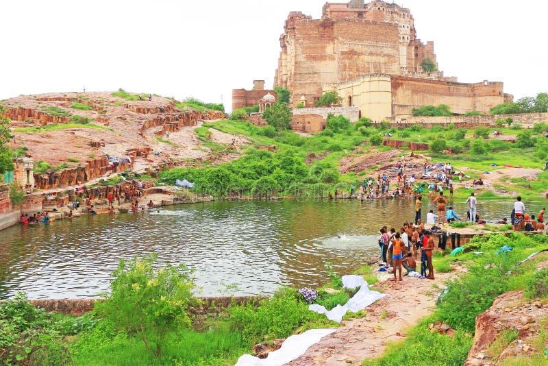 Magiczny Mehrangarh fort, Jodhpur, Rajasthan, ind obrazy stock