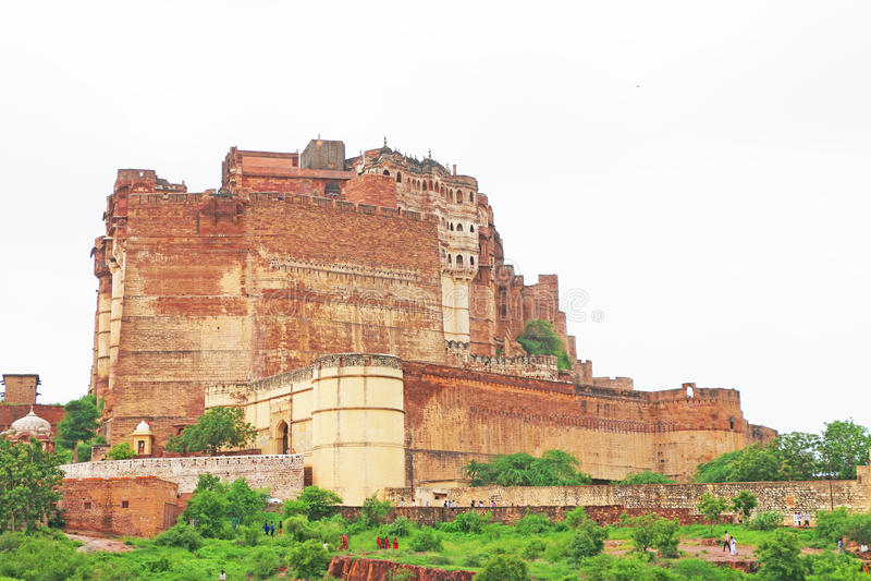 Magiczny Mehrangarh fort, Jodhpur, Rajasthan, ind obraz stock
