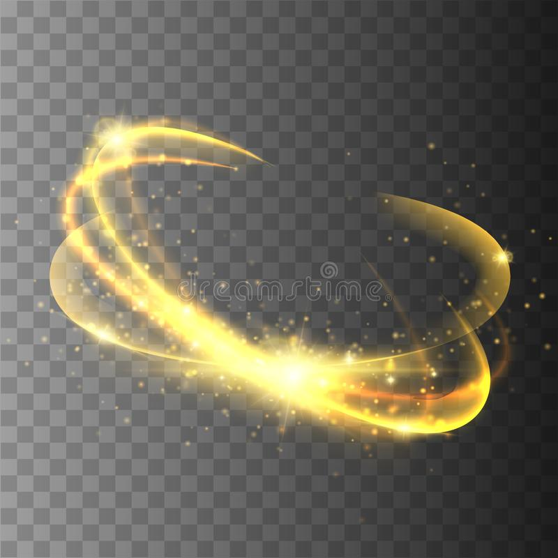 Magiczny okrąg odizolowywający na przejrzystym backgroun Wektor łuny pierścionek ilustracja wektor