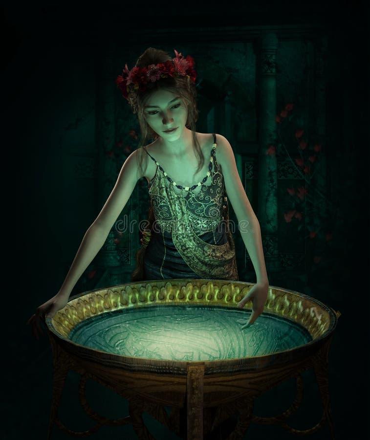 Magiczny płyn, 3d CG ilustracji
