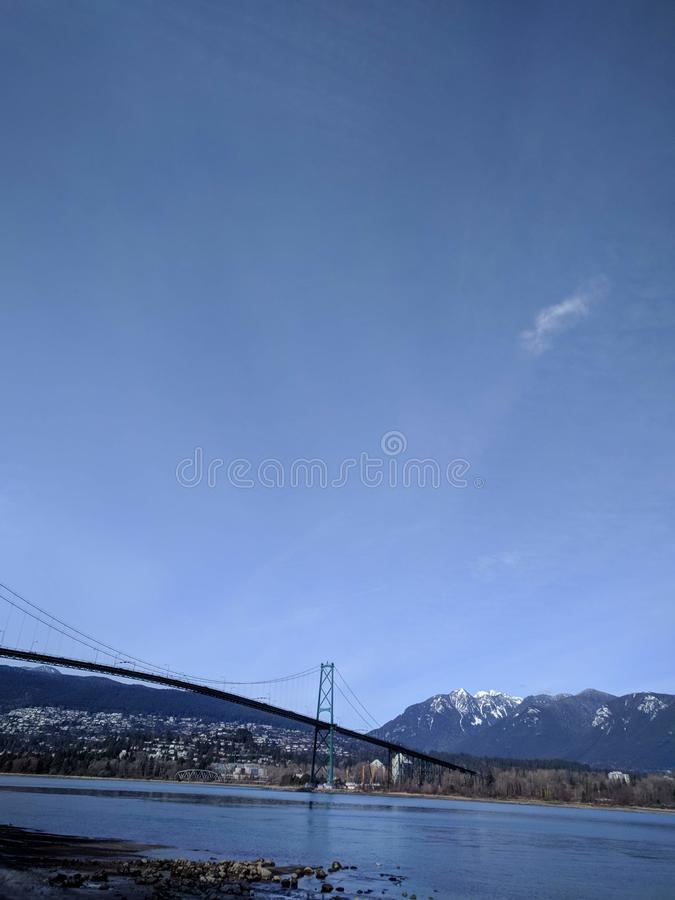 Magiczny ranek w Stanley parku, Vancouver zdjęcie royalty free