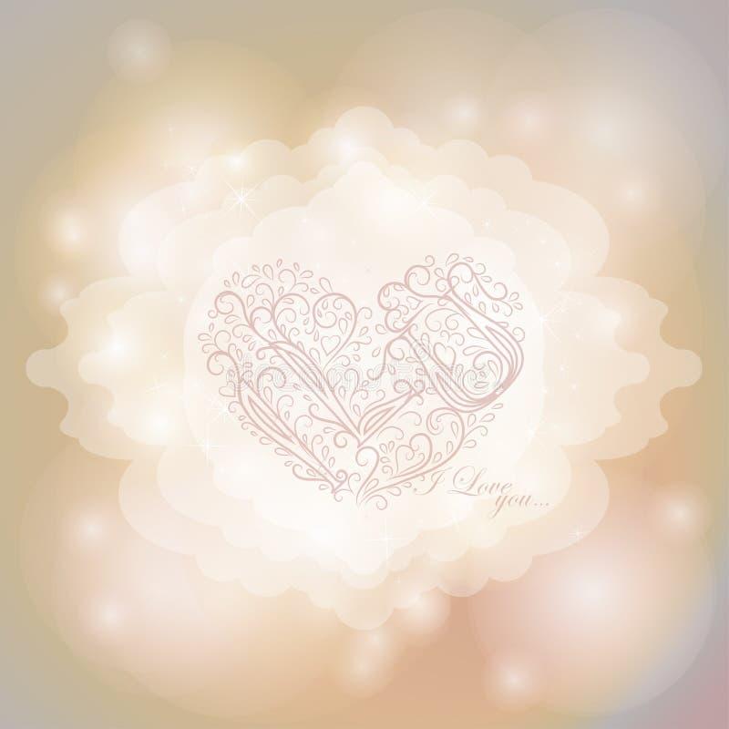 Magiczny tło z kolorowymi światłami Szczęśliwy royalty ilustracja