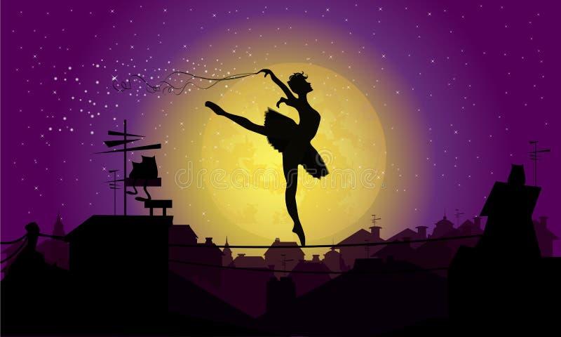 Magiczny taniec ilustracja wektor