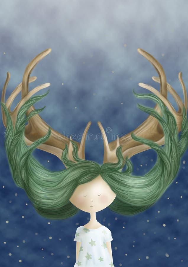 Magiczny włosy fotografia royalty free