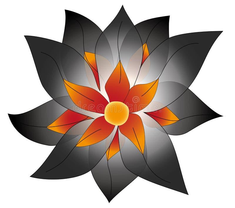 Magiczny wektorowy kwiat zdjęcie stock