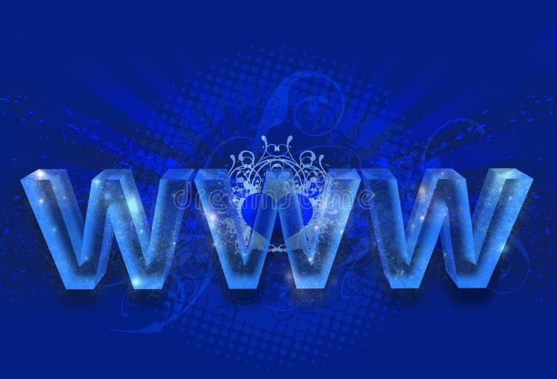 Magiczny WWW ilustracja wektor