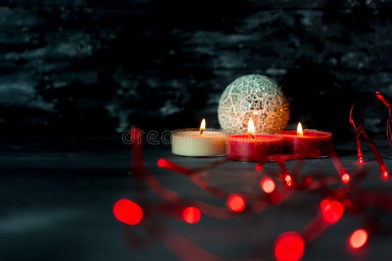 Magie, atmosphère foncée de witer et Noël photo libre de droits