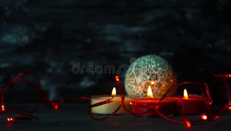 Magie, atmosphère foncée de witer et Noël photographie stock libre de droits