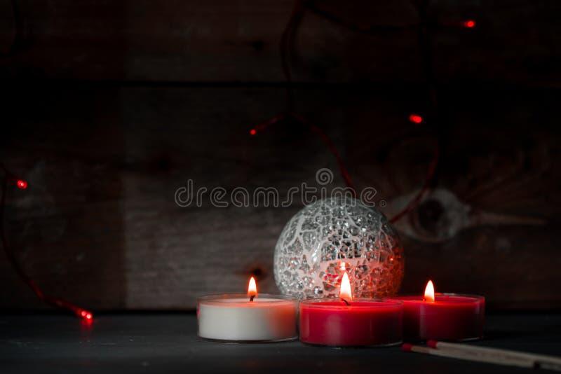 Magie, atmosphère foncée de witer et Noël photographie stock