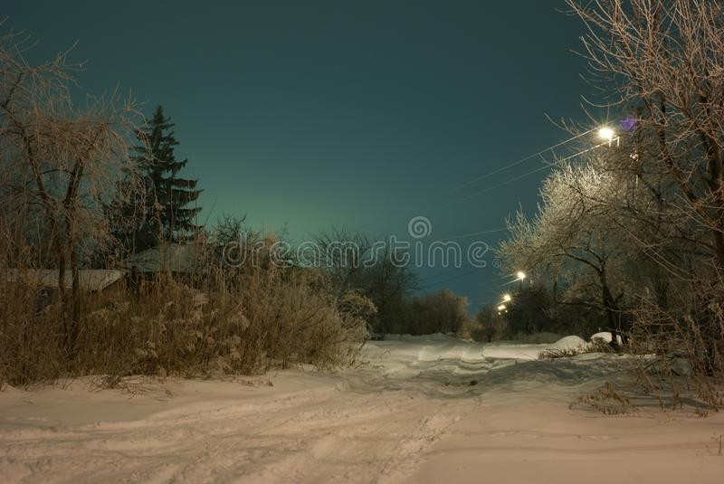 Magie d'hiver photo stock