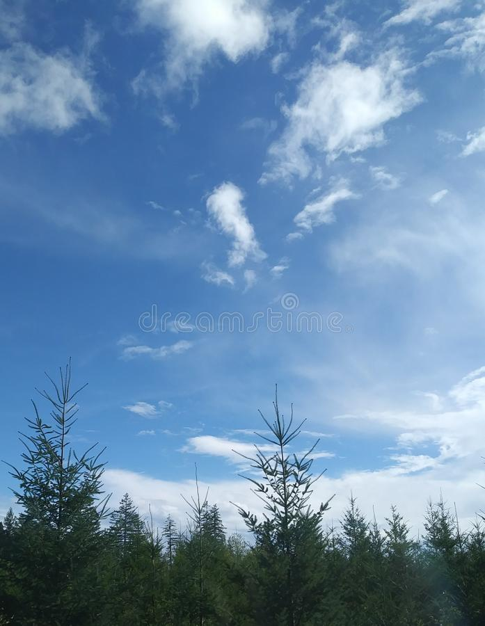 Magie dans le ciel image stock