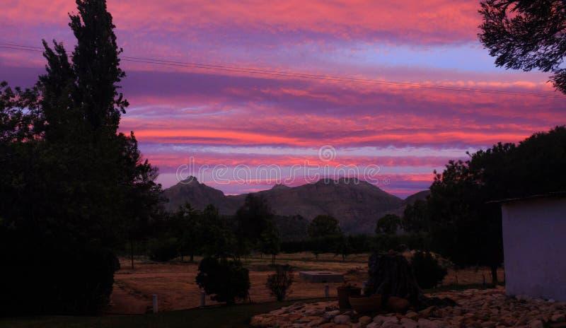 Magie de coucher du soleil images stock