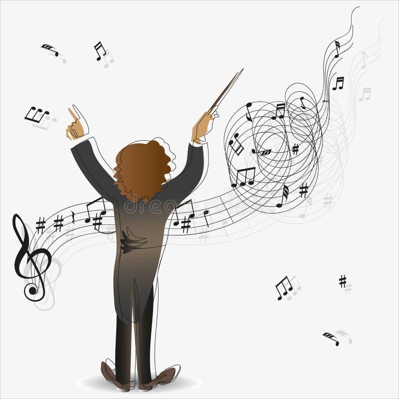 Magie de la musique conducteur illustration de vecteur