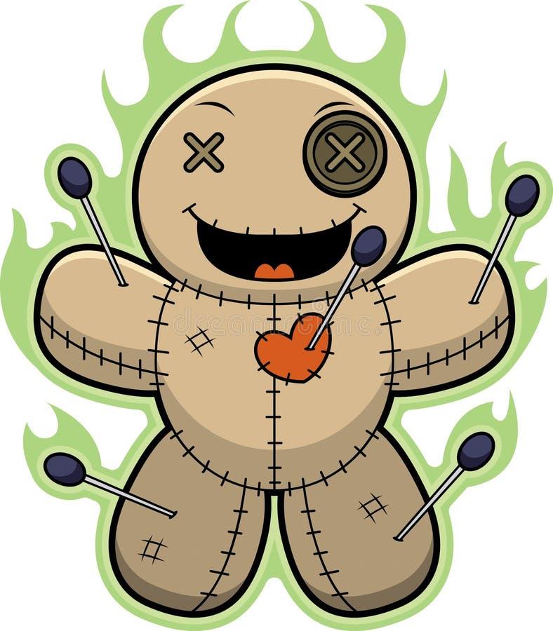 Magie de poupée de vaudou de bande dessinée illustration libre de droits