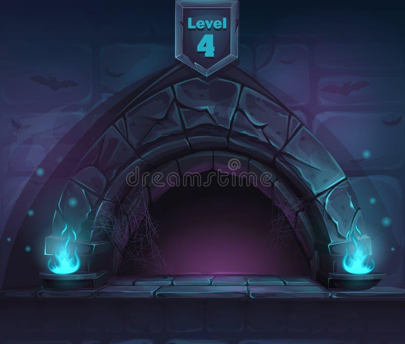 Magie de voûte dans après le 4ème niveau illustration de vecteur