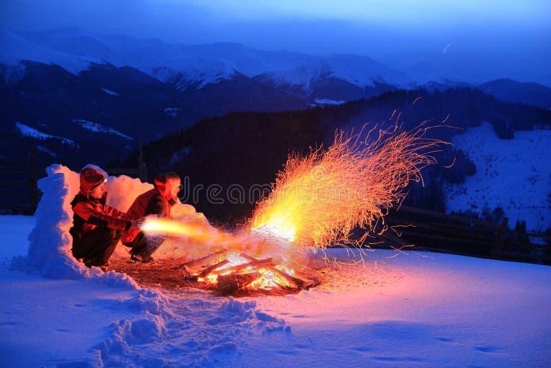 Magie du feu images stock