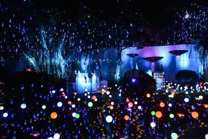 Magie führte Beleuchtungspark stockfoto