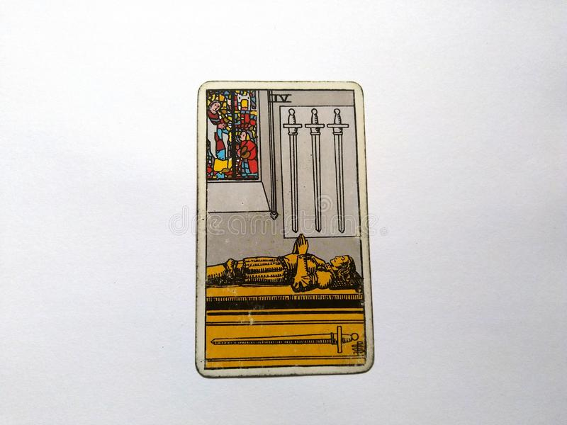 Magie occulte de divination de cartes de tarot photo libre de droits