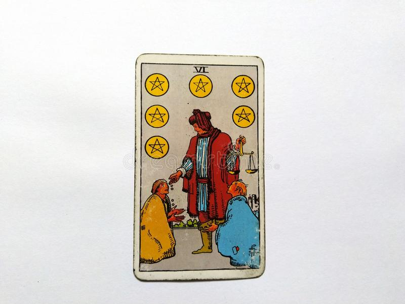Magie occulte de divination de cartes de tarot photos stock
