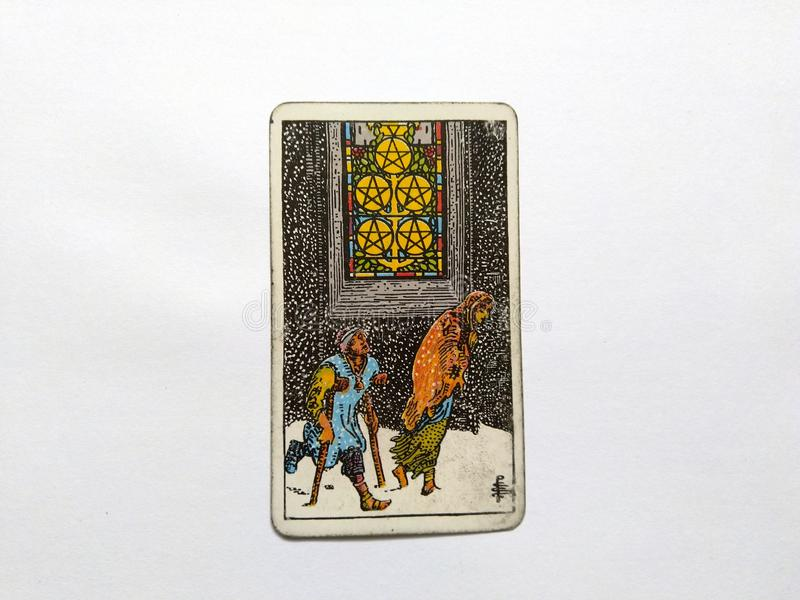 Magie occulte de divination de cartes de tarot images stock
