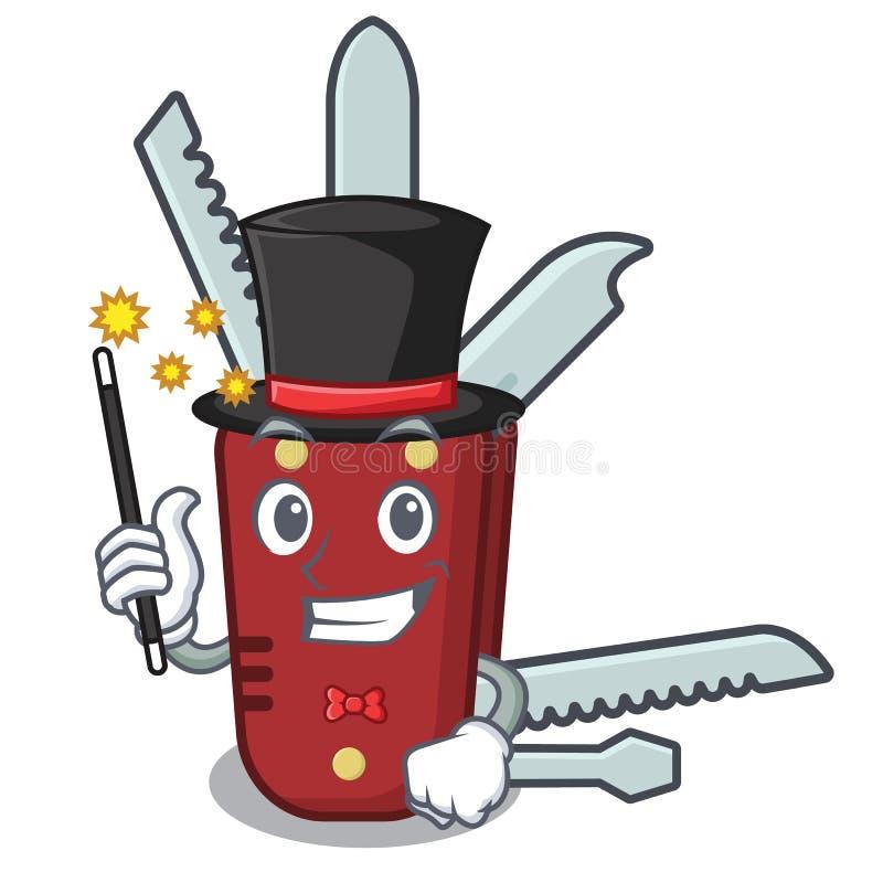 Magiertaschenmesser in der a-Karikaturtasche lizenzfreie abbildung