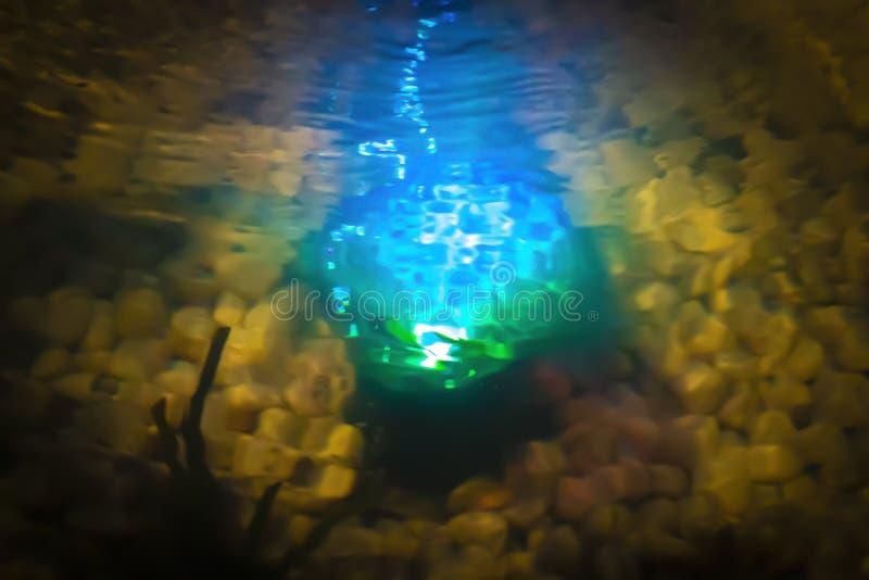 Magii łuna w wodzie zdjęcia royalty free