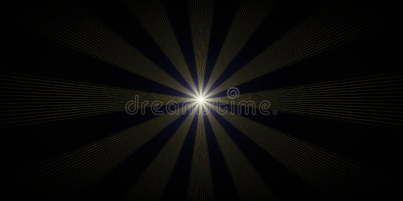 Magii astronautyczna luminescencja ilustracja wektor