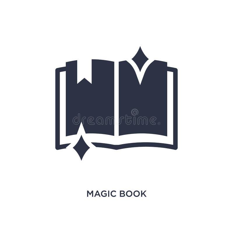 magii książkowa ikona na białym tle Prosta element ilustracja od magicznego pojęcia royalty ilustracja