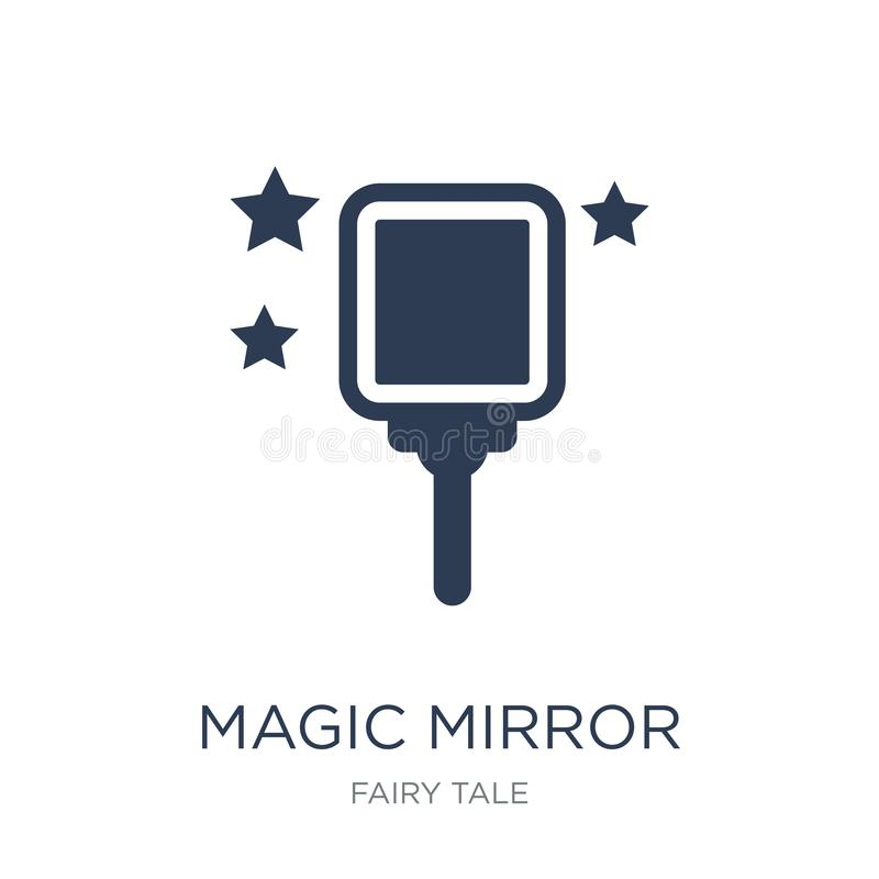 magii lustrzana ikona  ilustracja wektor