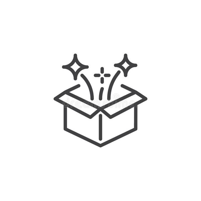 Magii pudełka konturu ikona ilustracji