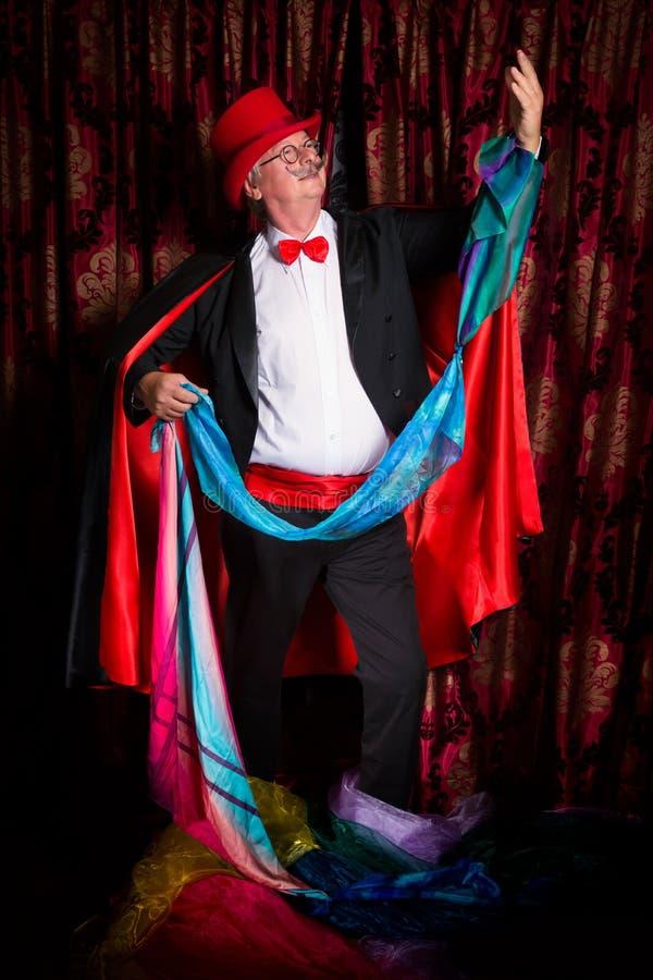 Magik ciągnie kolorowe chusteczki obrazy royalty free