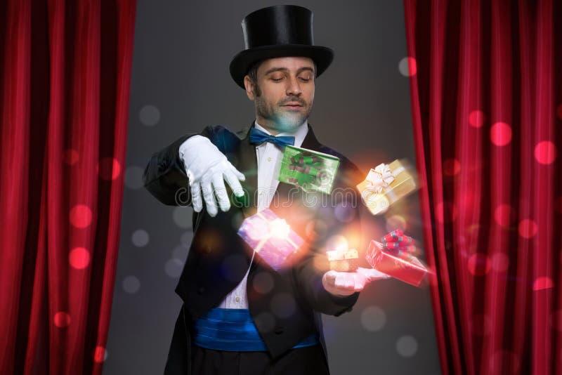 Magik magię w jego rękach obraz royalty free