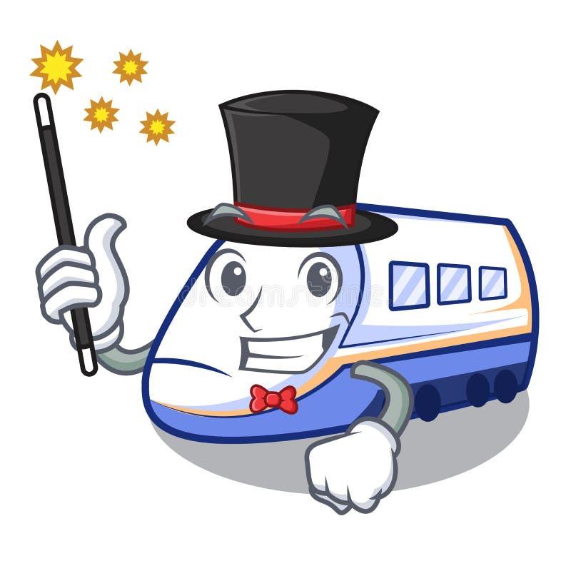 Magik miniatura shinkansen pociąg w kreskówka kształcie ilustracja wektor