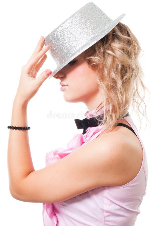 magika czarodziejski kapeluszowy portret obrazy stock