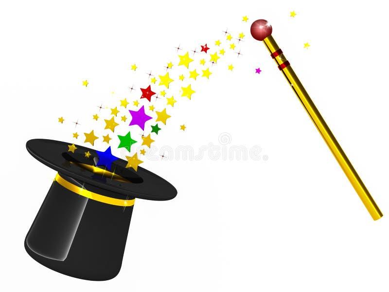 Magika kapelusz ilustracji