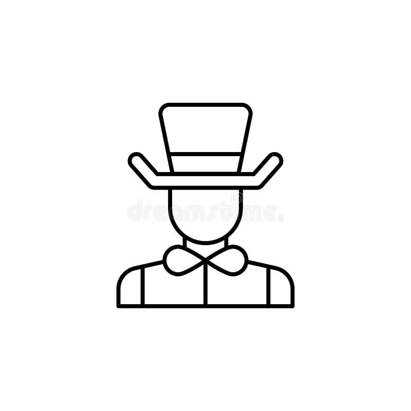 Magika konturu ikony ludzie Znaki i symbole mogą używać dla sieci, logo, mobilny app, UI, UX ilustracji